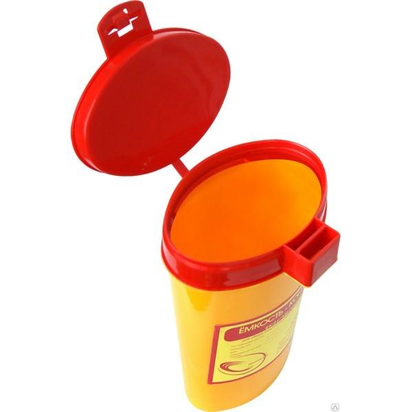 Емкость-контейнер ЕК-01 0,1 л для сбора острого инструментария серии Стандарт