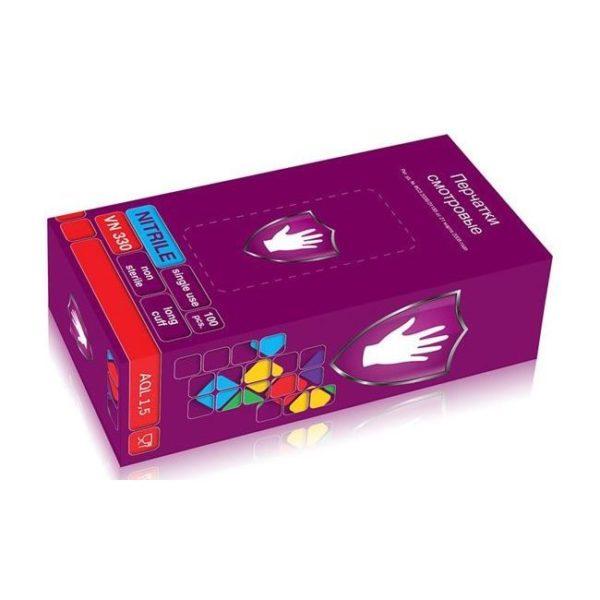 Перчатки нитриловые фиолетовые удлиненные VN 330